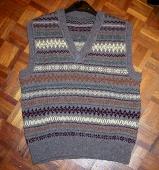 Shetland wool vest